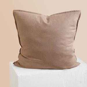Eve Linen European Pillowcase - Mocha