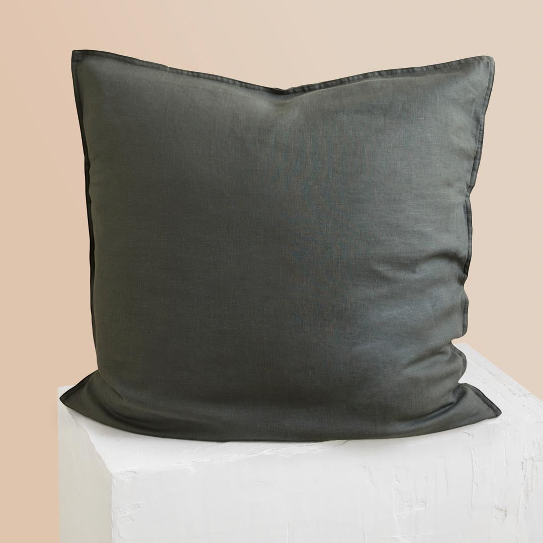 Eve Linen European Pillowcases - Hunter Green