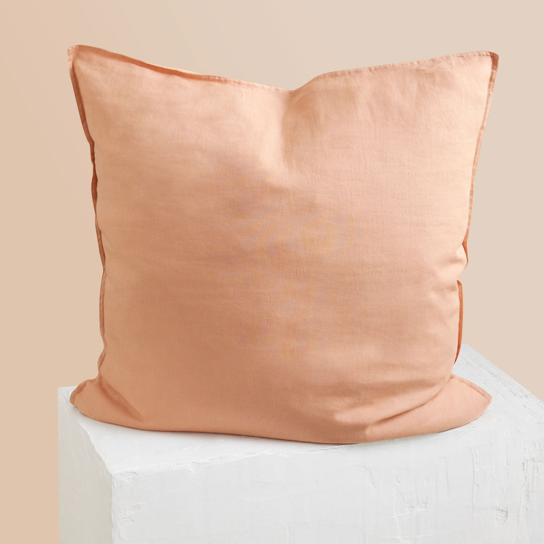 Eve Linen European Pillowcase - Papaya
