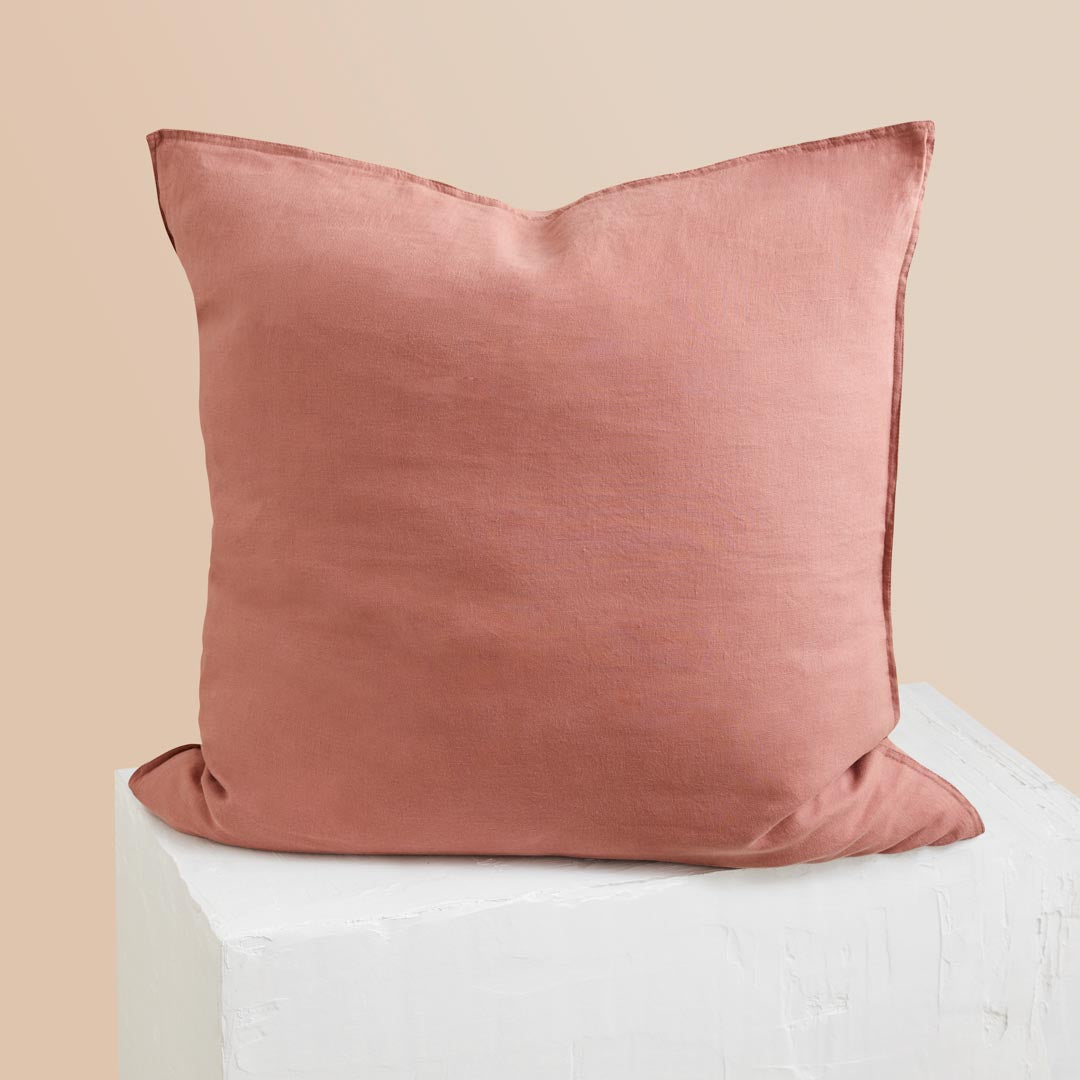 Eve Linen European Pillowcase - Rust
