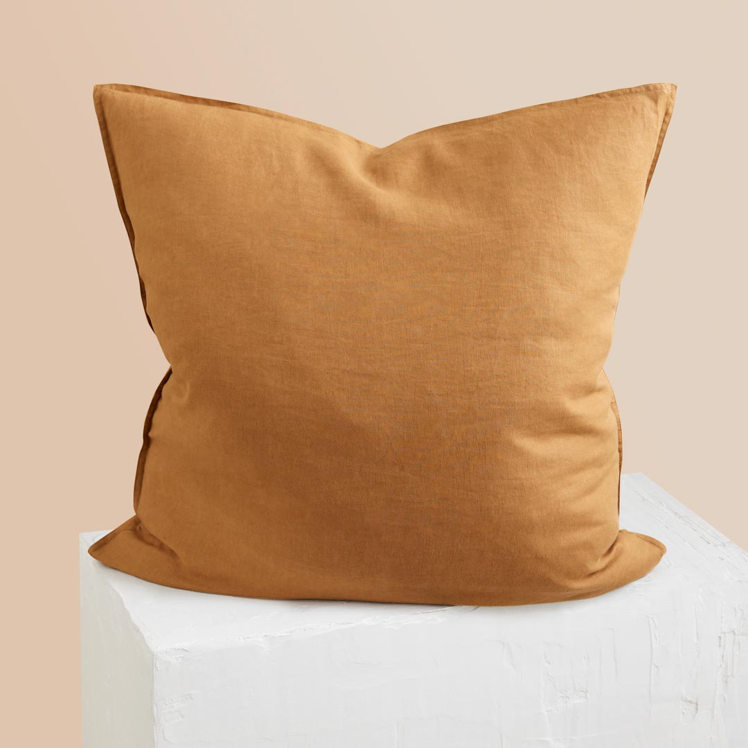 Eve Linen European Pillowcase - Terracotta