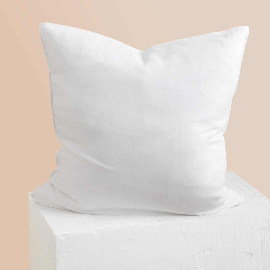 Eve Linen European Pillowcase - White