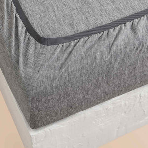 Chambray Linen Fitted Sheet - Ash