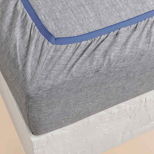 Chambray Linen Fitted Sheet - Indigo
