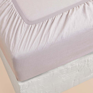 Eve Linen Fitted Sheet - Lilac