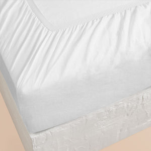 Eve Linen Fitted Sheet - White
