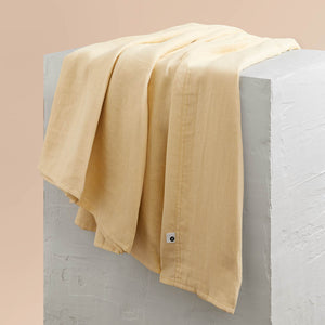 Eve Linen Flat Sheet - Butter