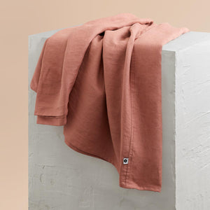 Linen Kids Bedding - Rust