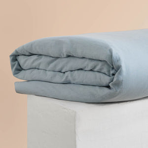 Eve Linen Quilt Cover - Blueprint