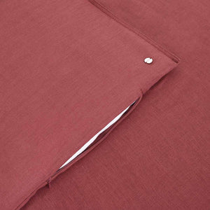 Eve Linen Quilt Cover - Rose