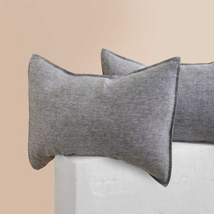 Chambray Linen Kids Bedding - Ash