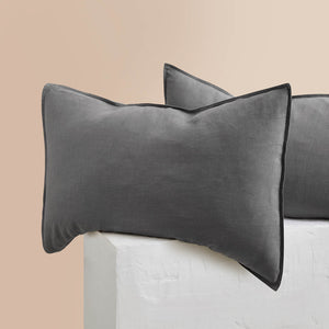 Eve Linen Pillowcases - Charcoal