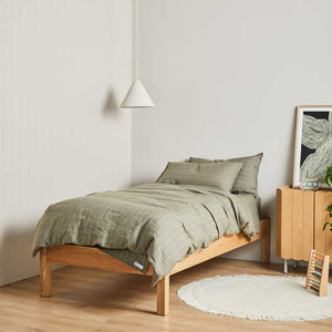 Striped Linen Kids Bedding - Austin