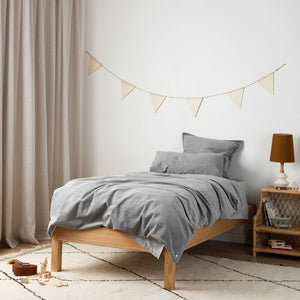 Corduroy Kids Bedding - Dove Grey