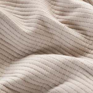 Parker Quilted European Pillowcases - Beige