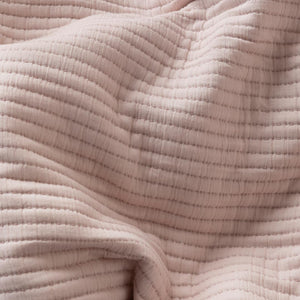 Parker Quilted European Pillowcase - Blush