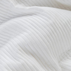 Parker Quilted European Pillowcases - White