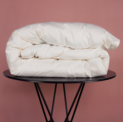 PEARL Organic Cotton Quilt Cover - Cream - The Sheet Society