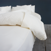 PEARL Organic Cotton Flat Sheet - Cream - The Sheet Society