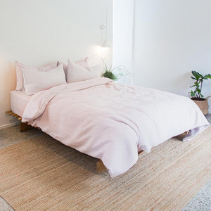 Parker Quilted Quilt Cover - Blush