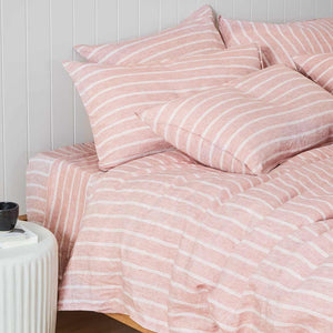 Striped Linen European Pillowcase - Dallas
