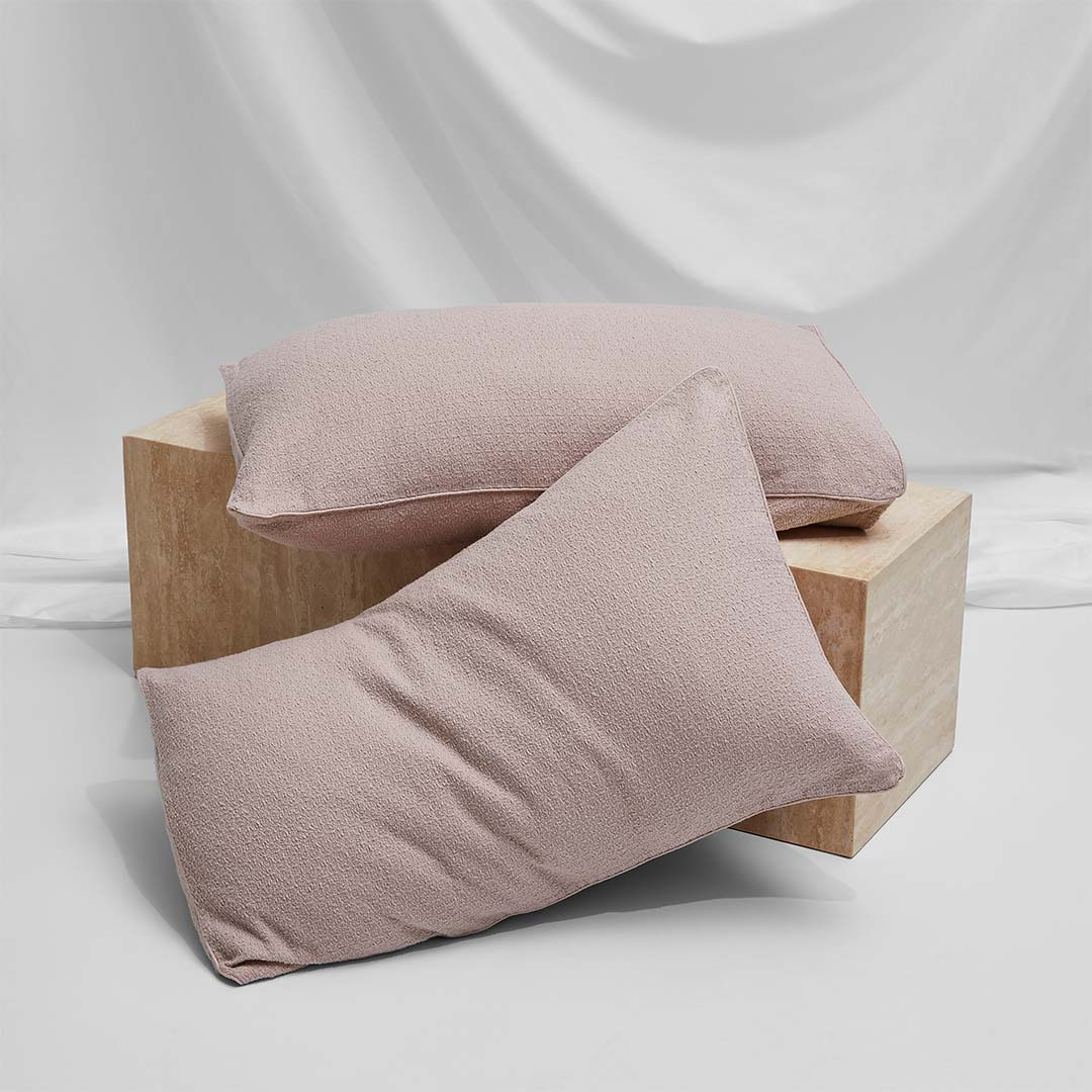Lola Bouclé Pillowcases - Blush
