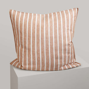 Striped Linen European Pillowcases - Camden