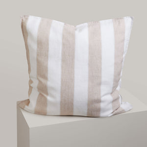 Striped Linen European Pillowcases - Brooklyn