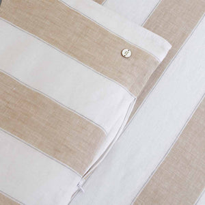 Striped Linen Kids Bedding - Brooklyn