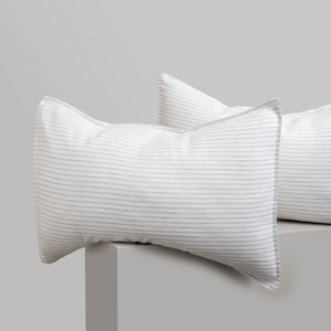 Striped Linen Pillowcases - Madrid
