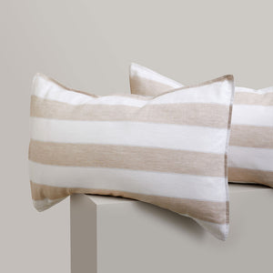Striped Linen Pillowcases - Brooklyn