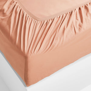 Eden Fitted Sheet - Papaya