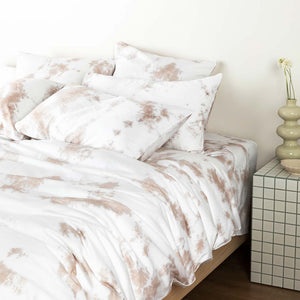 Tie-Dye European Pillowcases - Beige