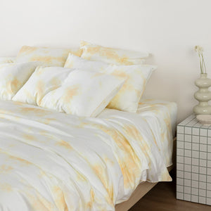 Tie-Dye European Pillowcases - Butter