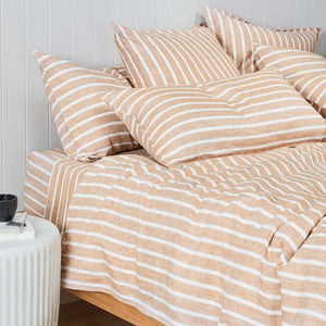 Striped Linen European Pillowcase - Camden