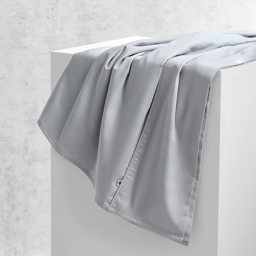Eden Flat Sheet - Dove Grey