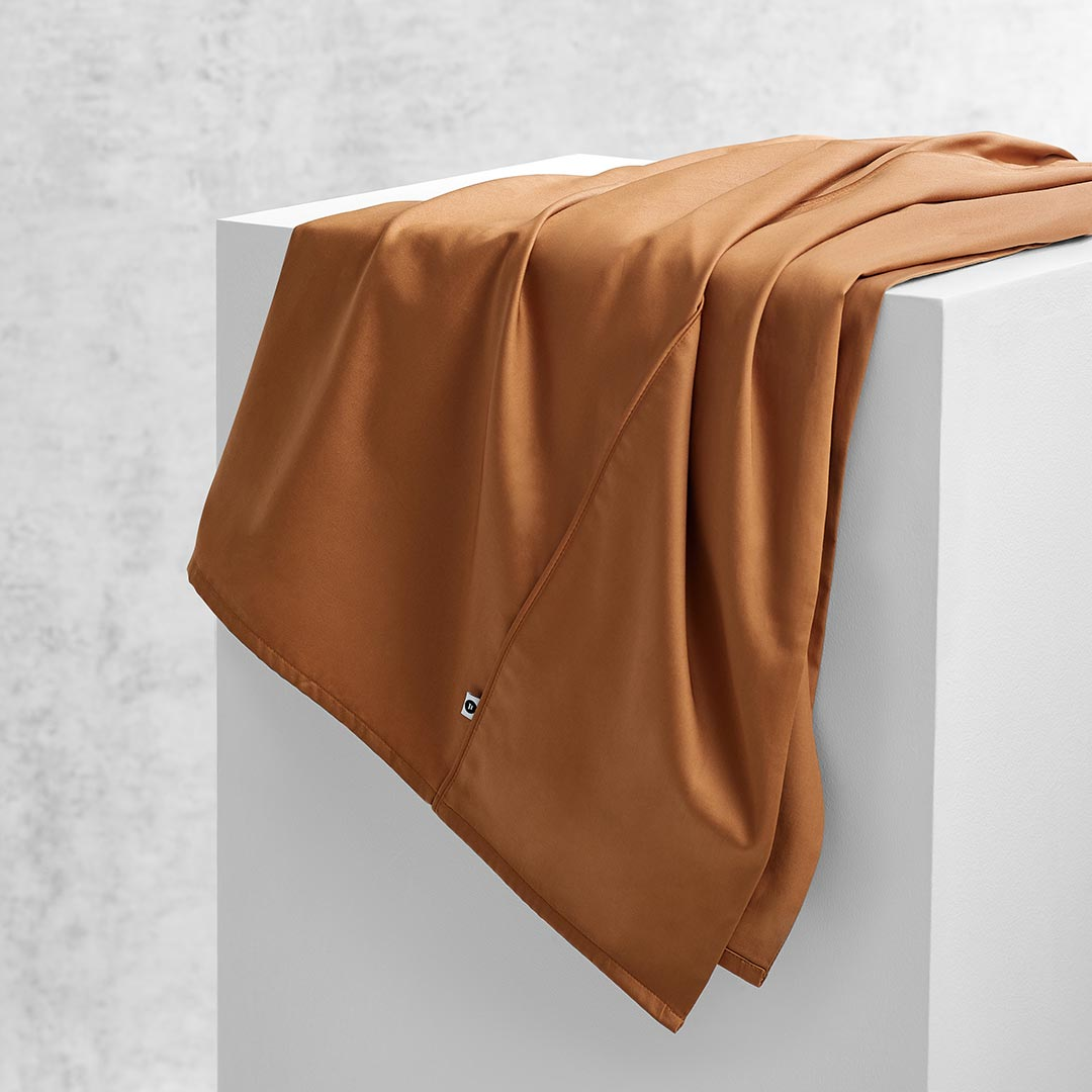 Eden Flat Sheet - Terracotta