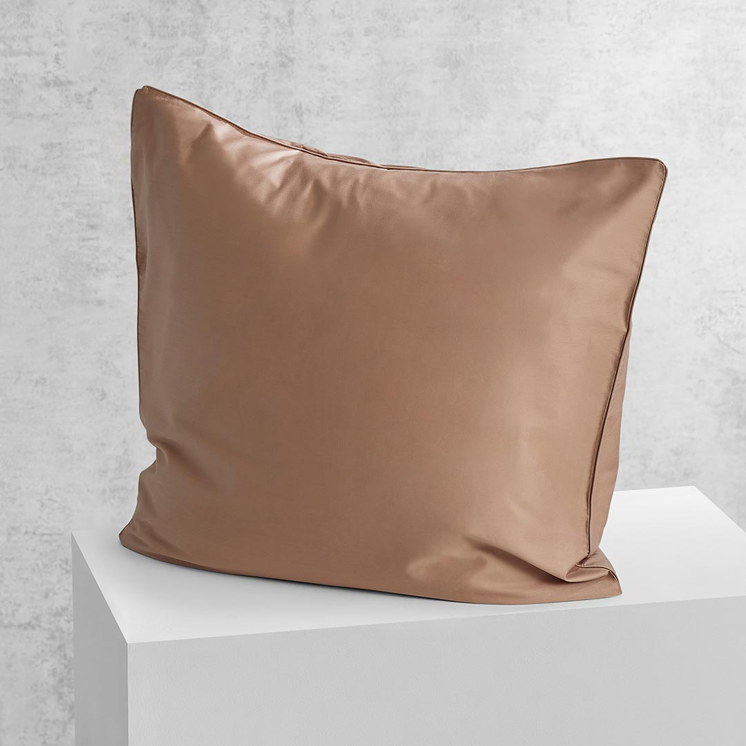 Eden European Pillowcase - Mocha