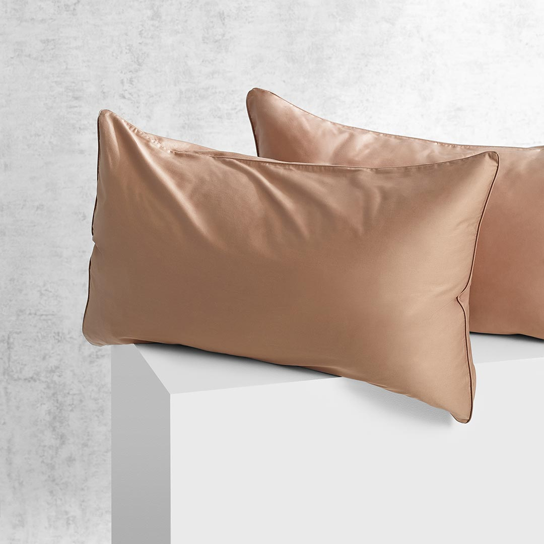 Eden Pillowcases - Mocha