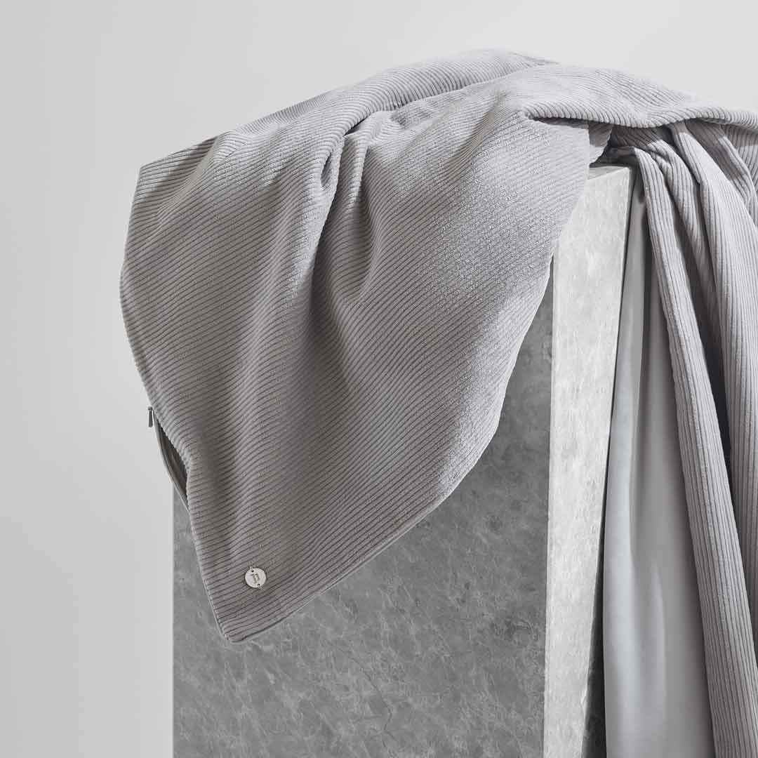 Darcy Corduroy Quilt Cover - Dove Grey
