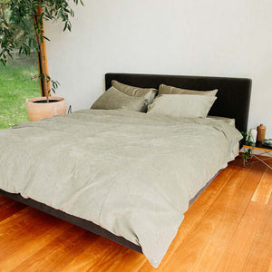 Darcy Corduroy Quilt Cover - Moss