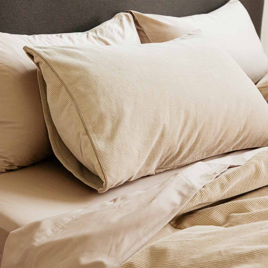 Darcy Corduroy Pillowcases - Beige