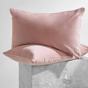 Darcy Corduroy Pillowcases - Blush