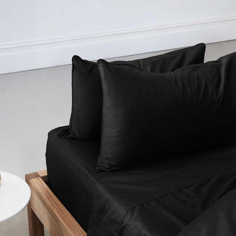 Eden Pillowcases - Black