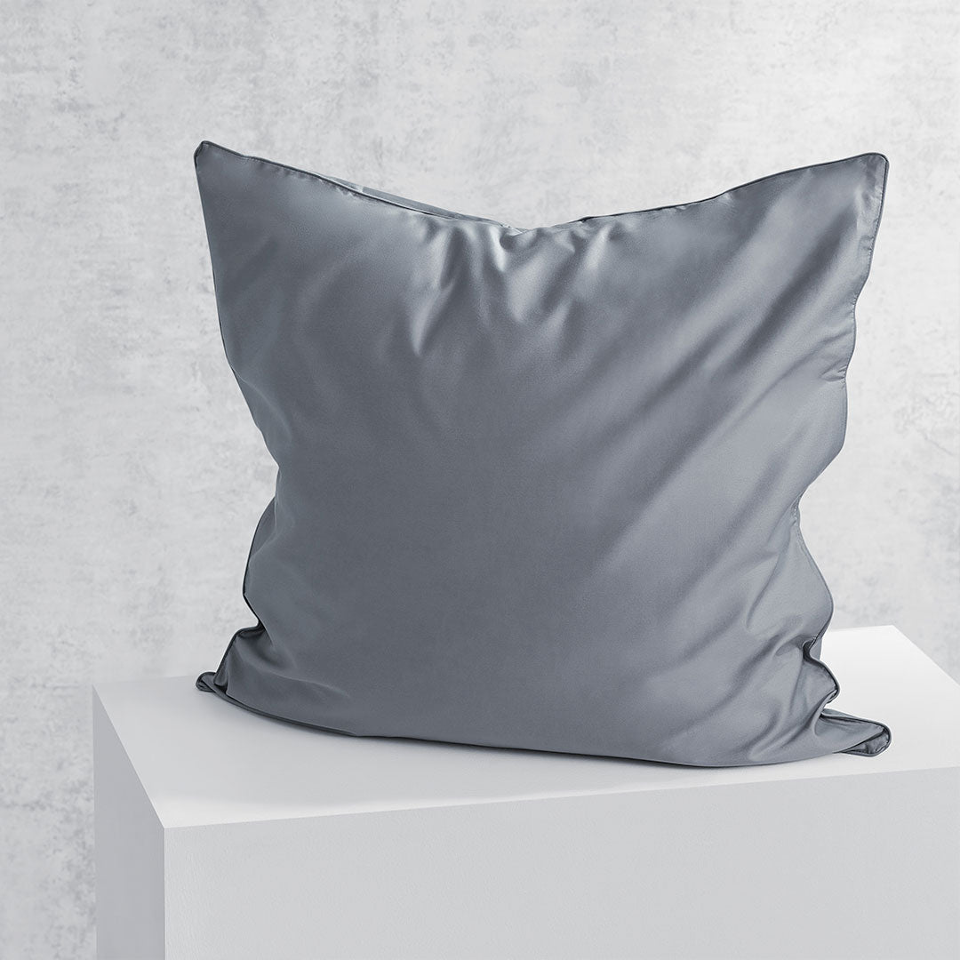 Eden European Pillowcase - Charcoal