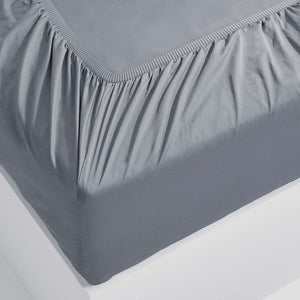 Eden Fitted Sheet - Charcoal