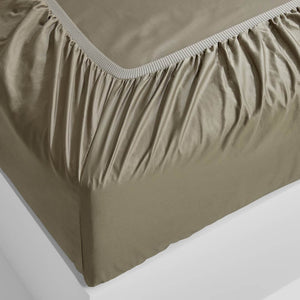 Eden Fitted Sheet - Moss