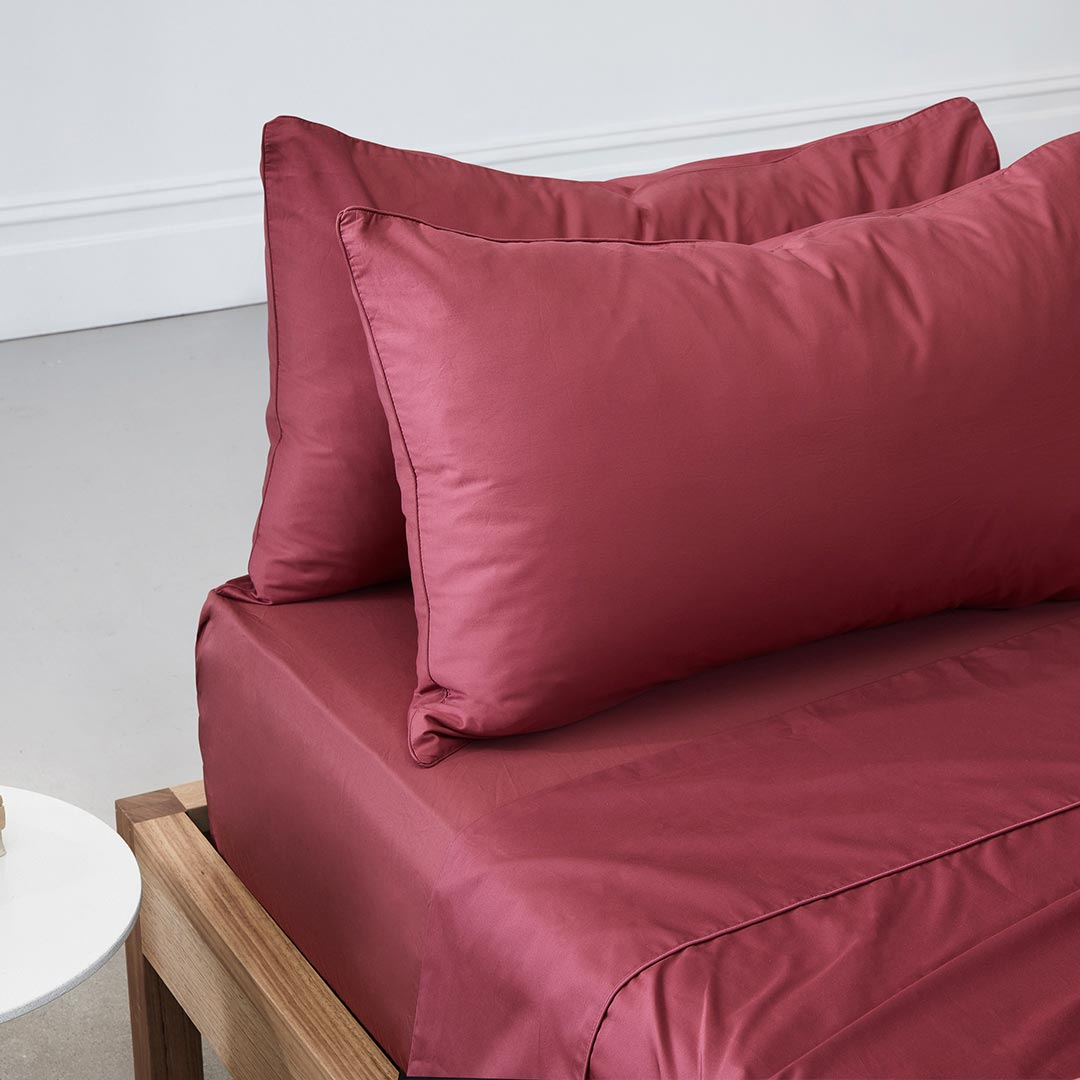 Eden Fitted Sheet - Rose