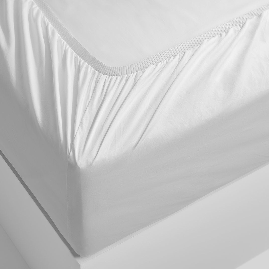 Eden Fitted Sheet - White