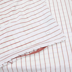 Leo Washed Cotton - Rust Stripe